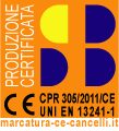 SB studio. Produzione certificata UNI EN 13241-1